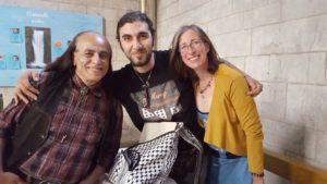 Mit Maigho und dem Künstler Fouad Kayalee
