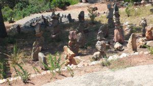 Steinkreis am Eingang